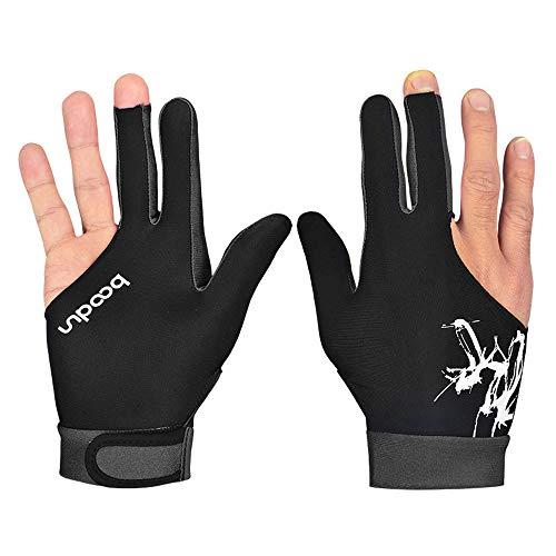 AmyGline Billard Handschuh aus Spandex-Snooker Dreifinger Handschuhe, Linke und rechte Hand können getragen Werden