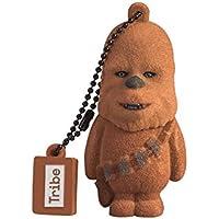 Tribe Disney Star Wars Chewbacca USB Stick 16GB Pen Drive USB Memory Stick Flash Drive, Gift Idea 3D Figure, PVC USB Gadget with Keyholder Key Ring - Brown