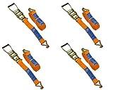 UNITRAILER Set von 4 Spanngurte Zurrgurte mit Ratsche 10m/50mm/5t 2 tlg für Pkw-Anhänger Bundle