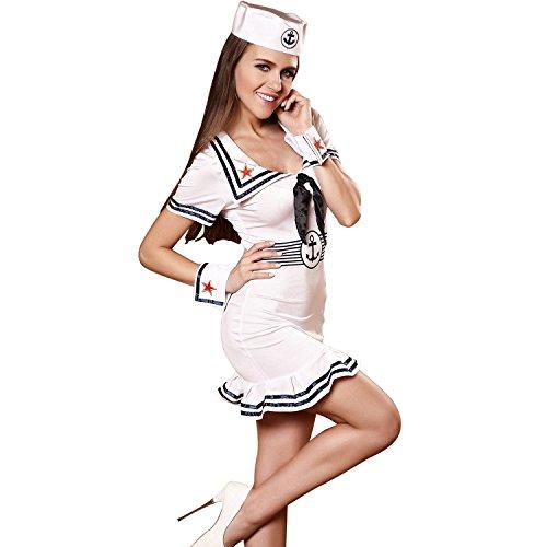 Sexy Marine Seemann Kleidung, Tanz Performance Frauen Rollenspiel Leistung, Tarnkleid , (Mädchen Kostüm Tanz Seemann)