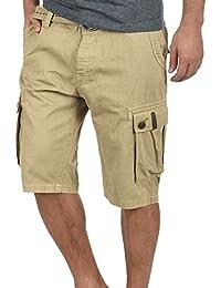 Solid Valongo Herren Cargo Shorts Bermuda Kurze Hose Mit Gürtel Aus 100%  Baumwolle Regular ! 4d7e025b50