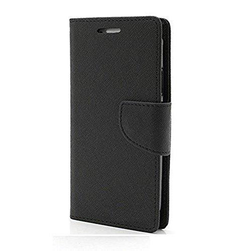Lomoza Mercury Diary Flip Cover For Samsung Galaxy Grand Quattro GT-I8552 - Black,side pocket, slot for money