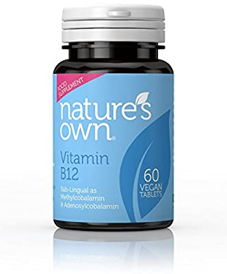 Nature's Own High Potency Vitamin B12 60 Vegan Tablets, 60-Count