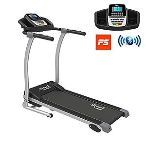 Sixtus Tapis Roulant Elettrico Pieghevole, Bluetooth, App KINOMAP, 12 Km/h, Sensore Cardiaco, Tappeto Ammortizzato… 1 spesavip