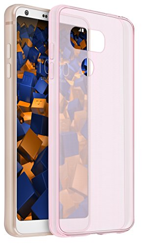 mumbi UltraSlim Hülle für LG G6 Schutzhülle transparent rosa (Ultra Slim - 0.70 mm)