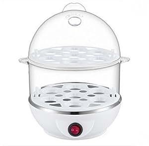INOVERA (LABEL) 2 Layer Plastic Egg Boiler Cooker and Steamer, Assorted