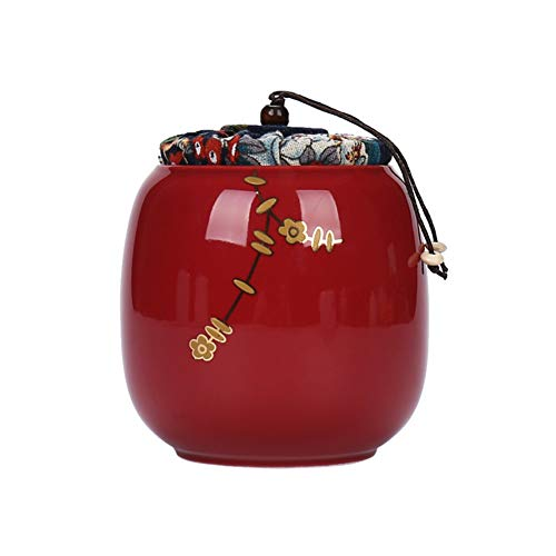 Keramik Teedose, Keramikplatten Tee Kann, Celadon Versiegelten Behälter, Schwarztee Grüntee Pu ' Er Teekanne Aufwachen-d 9x12cm(4x5inch) -
