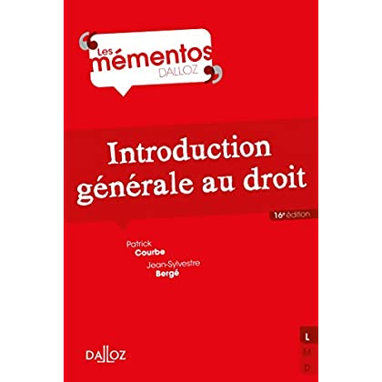 Introduction générale au droit - 16e éd.