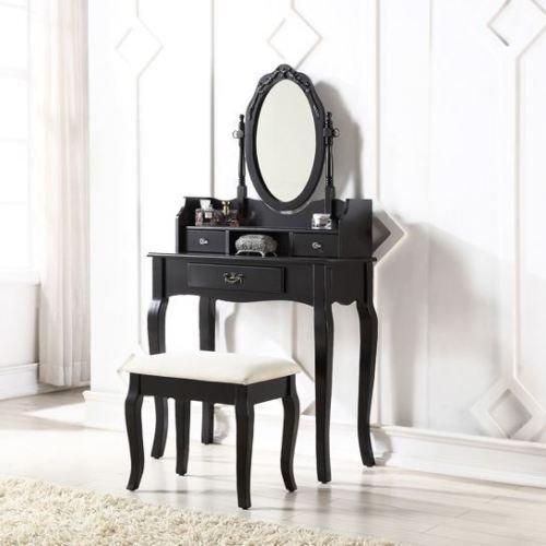 Exklusives Kiefer massiv Marke neue Lumberton (Antik Stil Schminktisch-Set mit gepolstertem Sitz Hocker und verstellbarem Spiegel...
