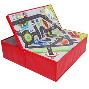 EUREKAKIDS Eureka Kids- Circuito de Coches y Caja de Almacenamiento 2 en 1 52914045