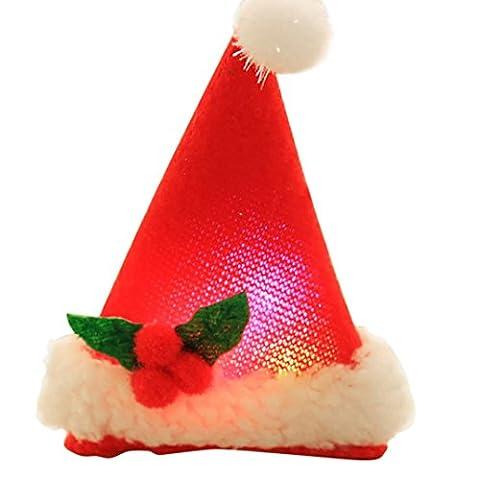 dikewang Weihnachtsschmuck Weihnachten Kinder Mütze Kartons nicht helles Haar Clip für Mädchen 1Stück Haar Clip Haar Zubehör Kopfbedeckung rot rot
