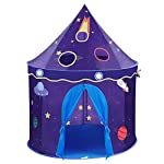 HEIRAO Foldable Sturdy Play Tents, Adorable Castle Playhouse Space Theme, Game House Tent for Kids Indoor and Outdoor Fun Plays