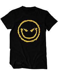 Böser Smiley Angry Fun T-Shirt Herren schwarz