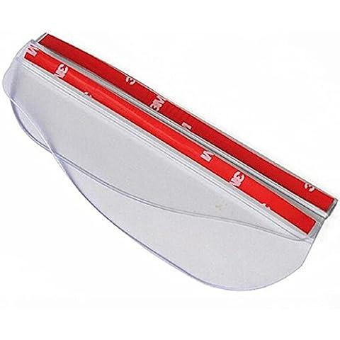 EarthSafe® Auto specchio retrovisore pioggia per sopracciglia, 2PCS posteriore Vista laterale specchio del sole della visiera dello schermo della copertura dello schermo della pioggia (Trasparente bianco)