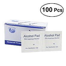 SUPVOX 100PCS Monouso Alcool Prep Pads Medical Alcohol Prep Pads Clean Wounds Sterilizzazione per la casa o all'aperto