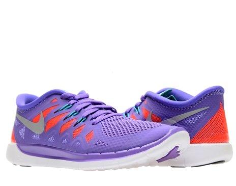 NikeFree 5.0, Hausschuhe für Jungen und Mädchen, - (purple venom/metallic silver/orange/green) - Größe: 35,5