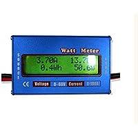 Yosoo®messwertanzeige DC 60V/100A Hochpräzise Leistungsmesser LCD-Display WATT Meter - Blau