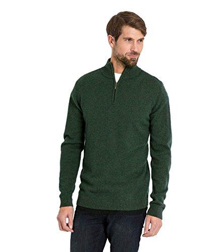 WoolOvers Pull à encolure zippée - Homme - Laine d'agneau Tweed