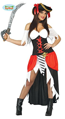 KOSTÜM - PIRATIN - Größe 38-40 (M), Karibik sexy Seefahrer Seeleute Käpitän Piratin Piraten (Girl Sexy Kostüme Piraten)