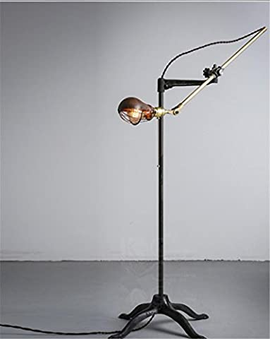 Vintage steampunk copper wrought iron floor lamp Bedroom Living Room torchiere floor lamp