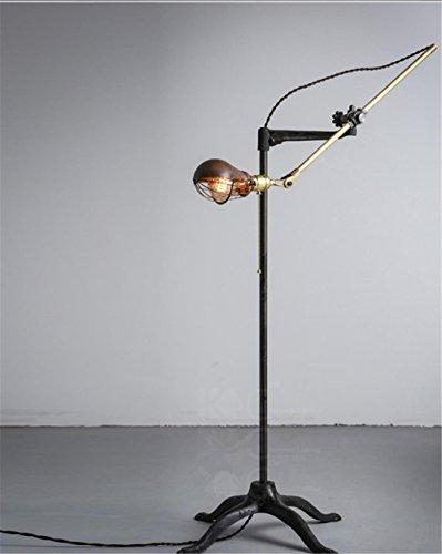 Vintage rame steampunk battuto piano del ferro della lampada da letto Soggiorno lampada da terra torchiere