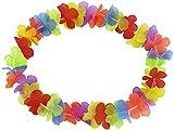Alsino Hawaiikette Blumenkette Hulakette 1 m Regenbogen Farben Hawaii-Deko Party Accessoire HK-01
