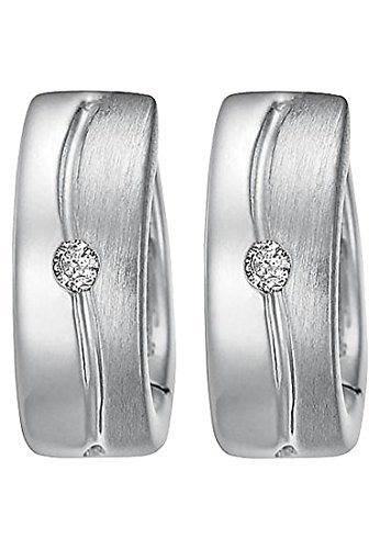 christ-silver-diamonds-damen-creole-925er-silber-2-brillanten-ca-004-ct-one-size-silber