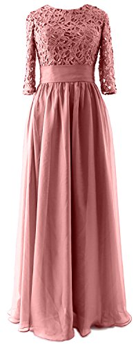 MACloth - Robe - Trapèze - Manches 3/4 - Femme Rose - Blush Pink