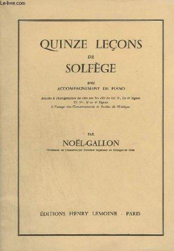 QUINZE LECONS DE SOLFEGE AVEC ACCOMPAGNE...