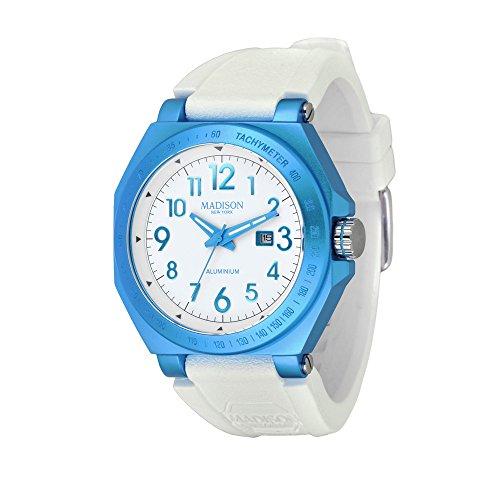 madison-new-york-homme-montre-aluminium-bleu-clair-one-size