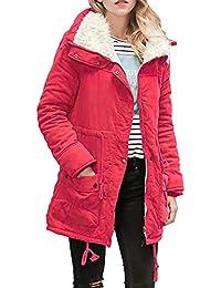 BaZhaHei Damen Mantel Winterjacke Wintermantel Lange Daunenjacke Jacke  Outwear Frauen Winter Warm Daunenmantel Solide Lässig Dicker 1d2c926d80