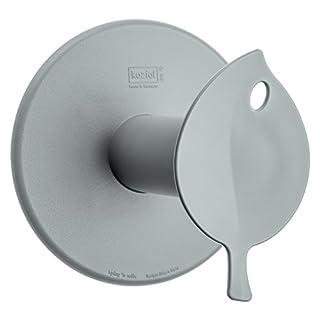 koziol WC-Rollenhalter  Sense,  Bio-Kunststoff, solid cool grey, 13 x 12,7 x 12,7 cm