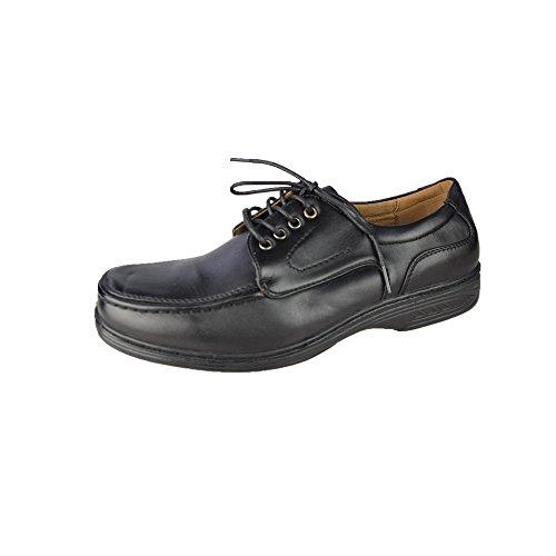 Hommes de faible à lacets Chaussures Taille Homme EU 40–46(UK 6–12) Black - Black