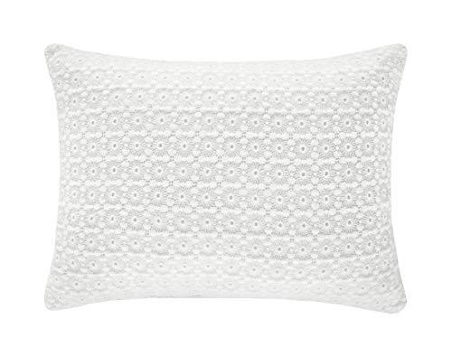 Five Queens Court Amelia Cottage 100% Cotton Boudoir Pillow, Off White, 16x12, Offwhite - Cottage White Queen