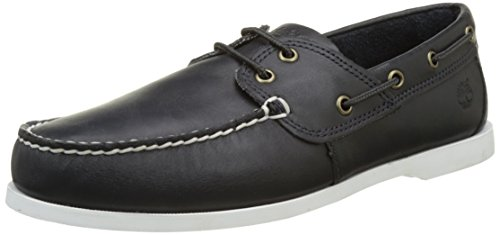Timberland Cedar bay (Wide Fit), Scarpe da Barca Uomo, Blu (Navy Galloper Full Grain), 44 EU