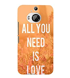 EPICCASE All you need is Love Mobile Back Case Cover For HTC One M9 Plus (Designer Case)