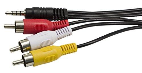 3,5mm auf 3RCA AV Camcorder Video Kabel für iPod/MP3/PC, 3,5mm auf 3RCA Stecker zu Cinch Stereo Audio Video Stecker AUX Kabel 1,5m Kordel (Wii-connect-system)