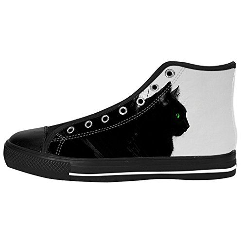 Dalliy art mignon petit chat Men's Canvas Shoes Lace-up High-top Footwear Sneakers Chaussures de toile Baskets C