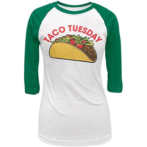 Cinco de Mayo Taco Dienstag Junioren Cap-Sleeve Raglan-T-Shirt White