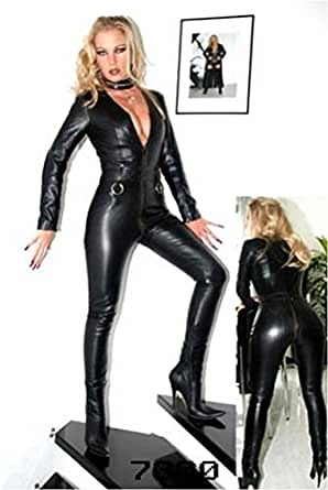 Forever Young Ladies Lycra Spandex Bodysuit Catsuit Dress PVC Catsuit Sexy Hen Party Outfit