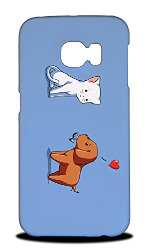 Price comparison product image Foxercases Design Cat And Dog Love Hard Back Case Cover for Samsung Galaxy S6 Edge