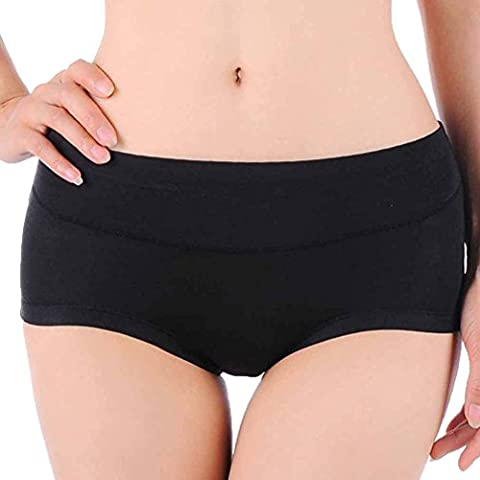 HOEREV Womens Comfort Bambusfaser Kurze Panty, 3er Pack (Kurze 3er-pack Panty)