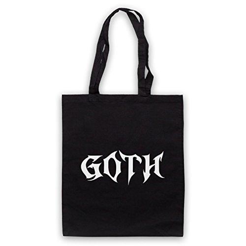 Goth Slogan Style Cape Tasche Nero