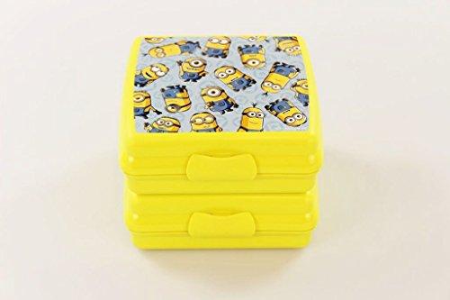 TUPPERWARE Sandwich-Box To Go gelb (2) Minions Brotbox Schule Pausenbrotbehälter 32205
