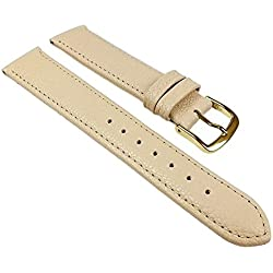 Birkenstock Replacement Band Watch Band Leather Kalf Strap Beige 24481G, width:12mm