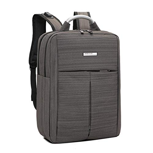 15,6 Zoll Laptop Rucksack Männer Große Kapazität Männer Casual Rucksack USB Lade Reise Notebook Rucksack Brown
