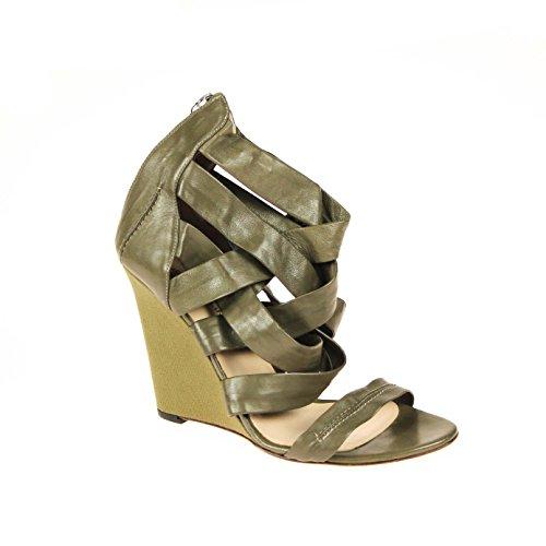 Studio Pollini Damen Pumps Leder Grün (auf Modenschau getragen), Schuhgröße:40