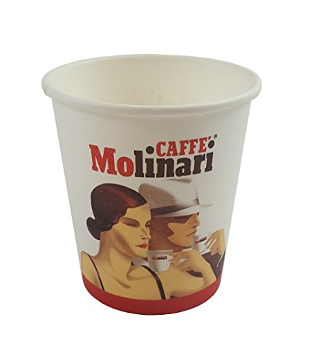 Caffè Molinari Coffee to go Becher/Espressobecher, 50 Stück, 113 ml
