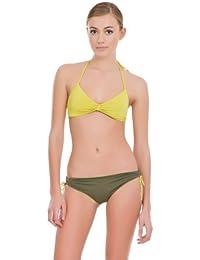 women'secret - Slip de bikini type boxer réversible avec attaches latérales réglables