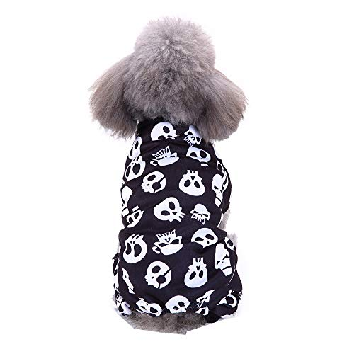 oween Verkleidung Haustier Skelett Kleidung Cool Cosplay Party Kostüm für Hund Katze ()